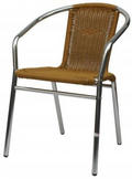 Aluminum chair apricot